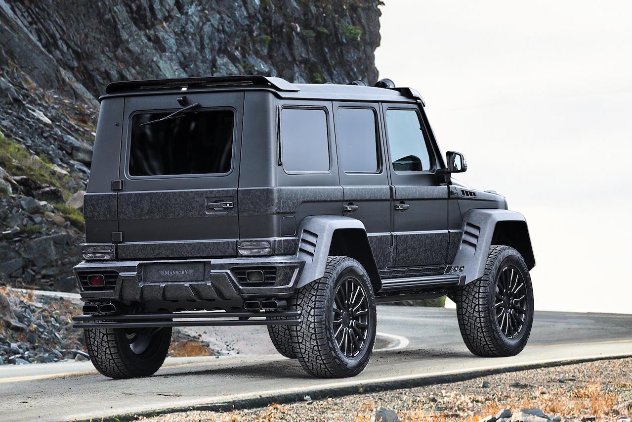 mansory mercedes benz amg 4x4 g550 g63 g65 g500 gronos black desert edition rear