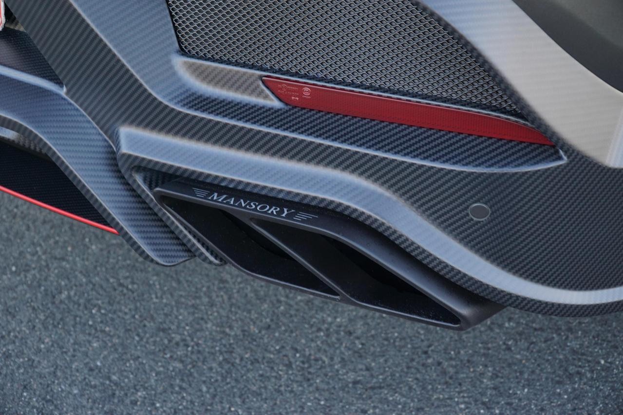 mansory mercedes benz amg gle 63 wide body kit carbon fiber exhaust system tip