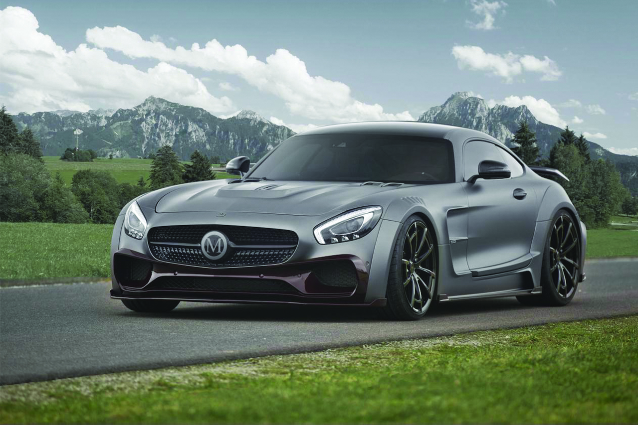 mansory mercedes benz amg gts wide body kit carbon fiber front bumper lip splitter wide over fender hood side skirt spider wheel rim