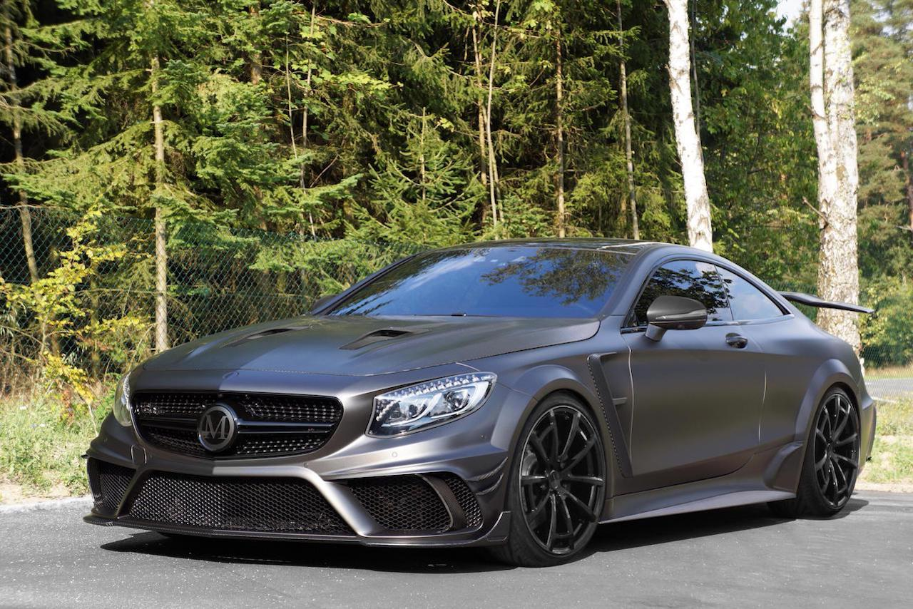 mansory mercedes benz c217 s class coupe s65 s63 s550 black edition wide body kit carbon fiber front bumper lip spoiler hood fender side skirt black cs.11 wheel rim