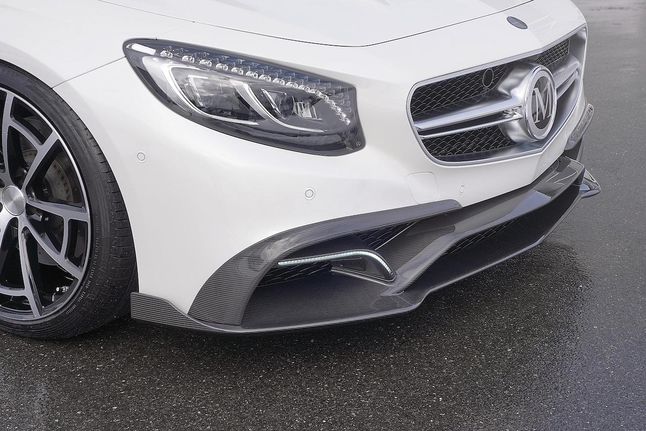 mansory mercedes benz c217 s class s65 s63 s550 soft body kit carbon fiber front bumper lip spoiler splitter spider wheel rim