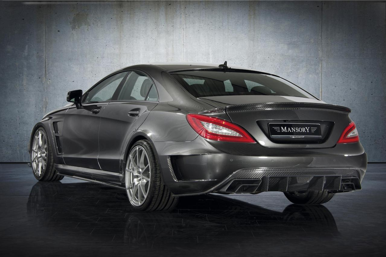 mansory mercedes benz c218 cls class cls63 cls550 wide body kit carbon fiber rear bumper diffuser exhaust system trunk wing spoiler m5 fully forged wheel rim
