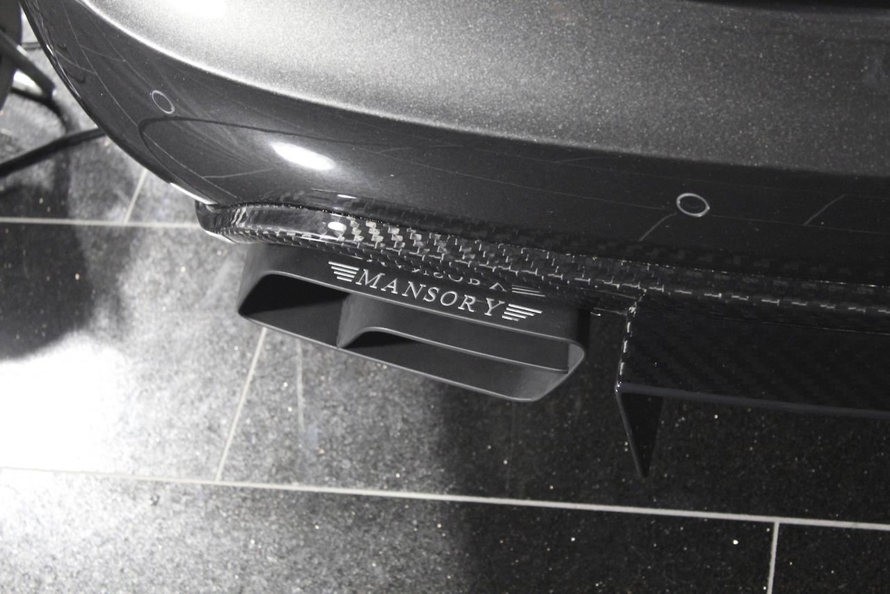 mansory mercedes benz c218 cls class cls63 cls550 wide body kit carbon fiber rear bumper diffuser exhaust system