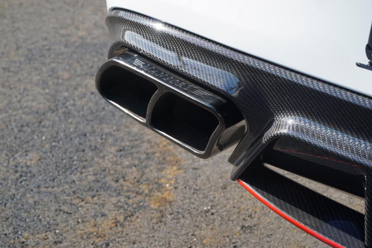 mansory mercedes benz c63 body kit carbon fiber rear diffuser exhaust system tip