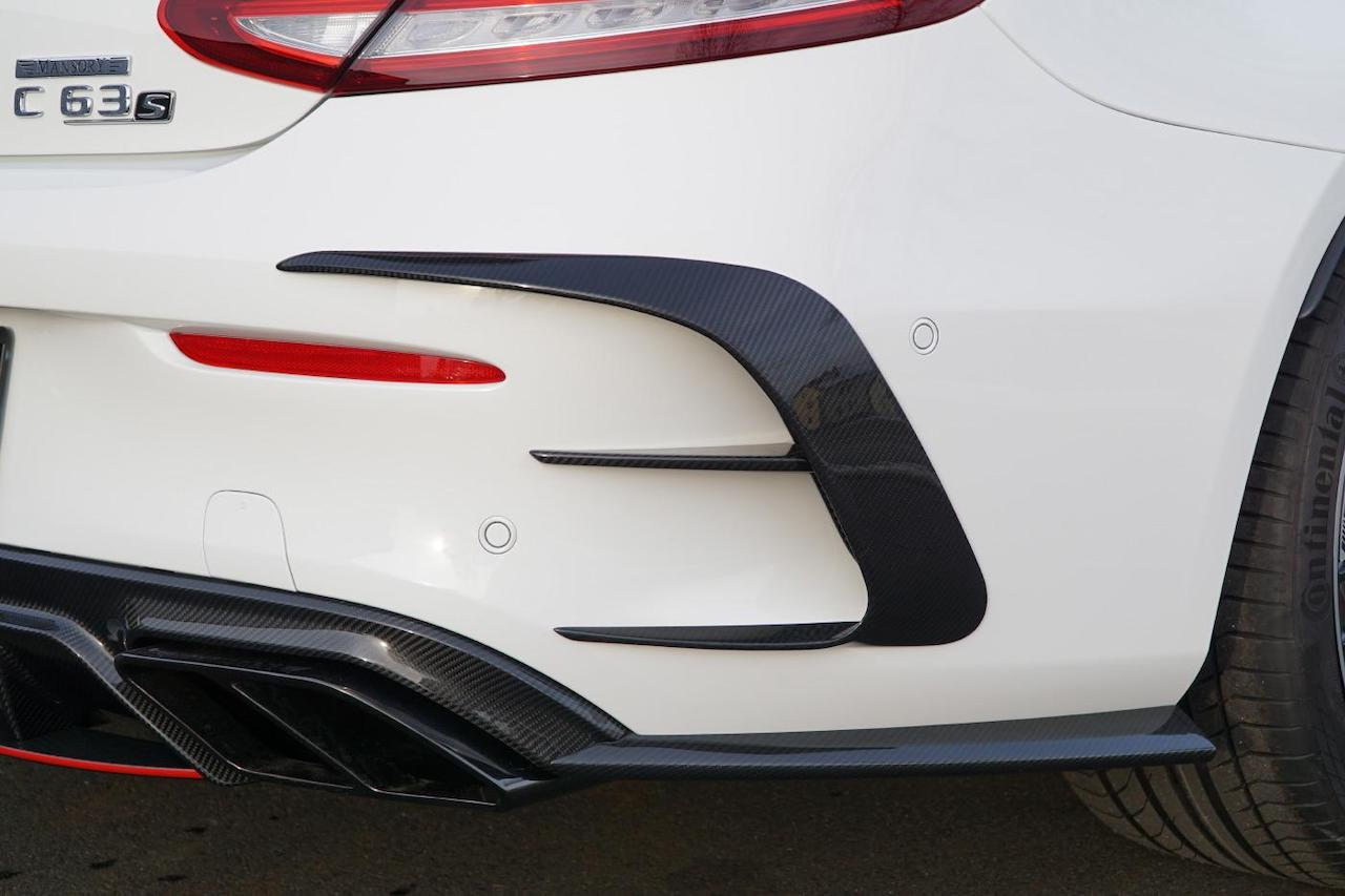 mansory mercedes benz c63 body kit carbon fiber rear diffuser outtake