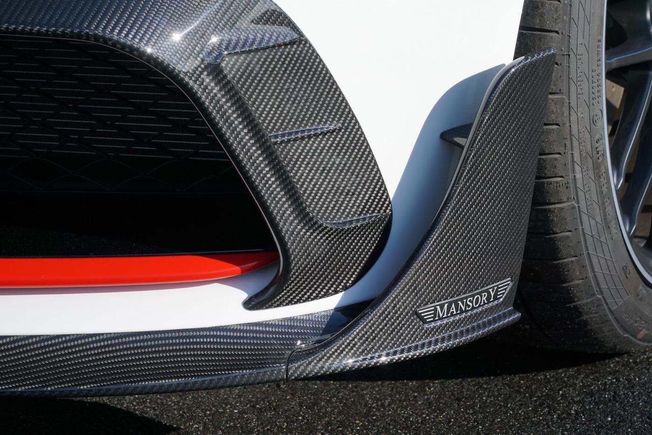 mansory mercedes benz c63 body kit front bumper carbon fiber lip splitter