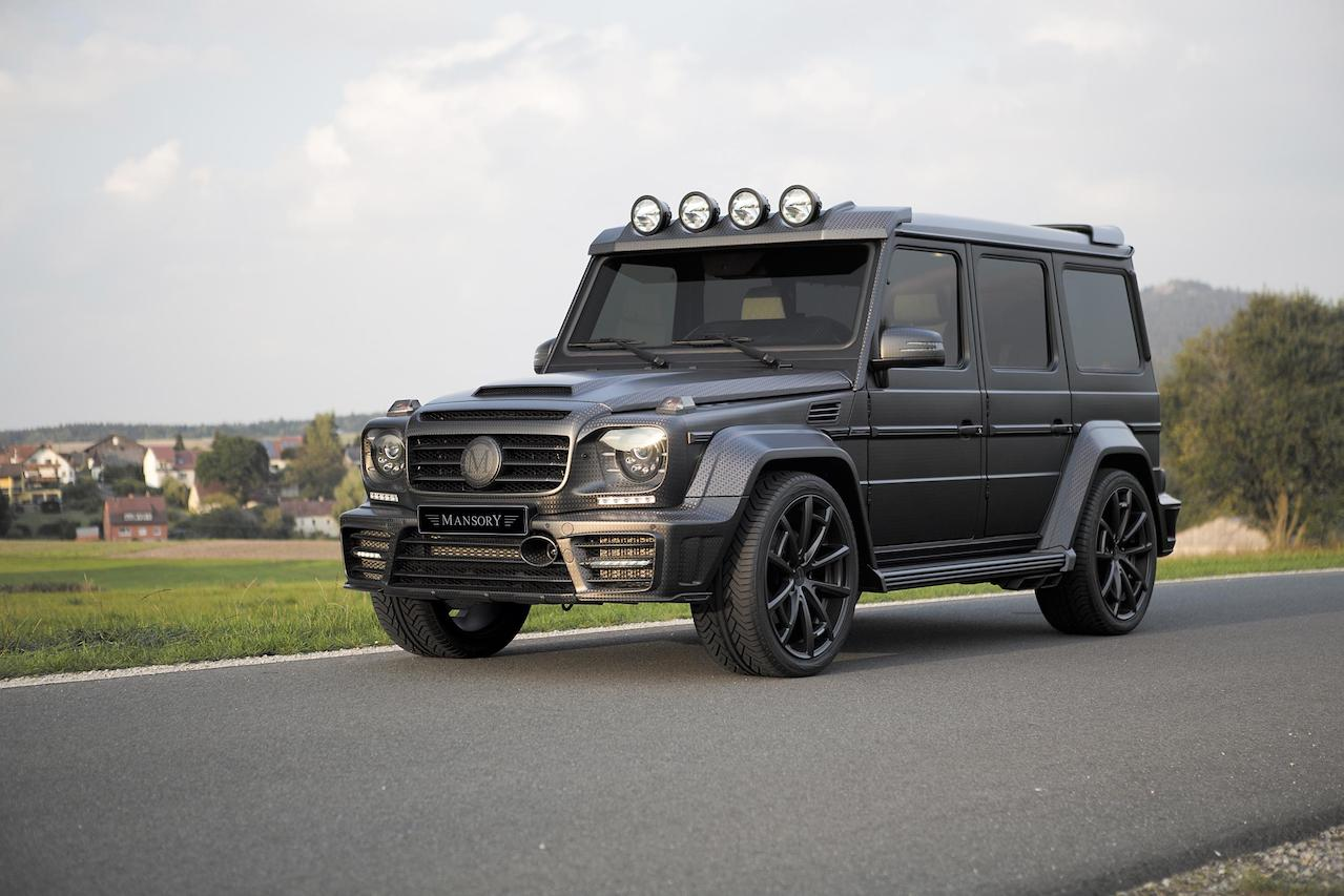 mansory mercedes benz g63 g65 g550 g500 w463 gronos black editon wide body carbon fiber front end spider wheel rim