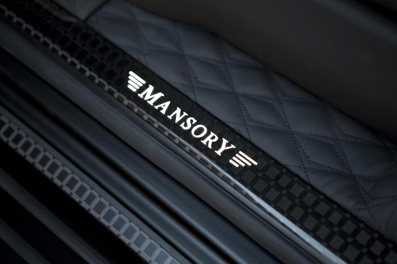 mansory mercedes benz g63 g65 g550 g500 w463 gronos black editon wide body carbon fiber illuminated entry panel