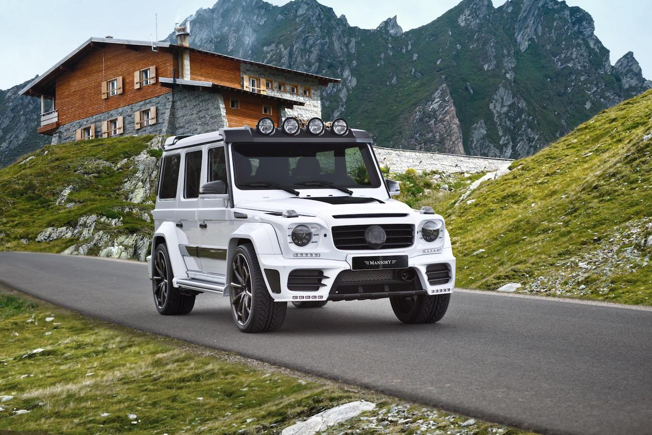 mansory mercedes benz g63 g65 g550 g500 w463 gronos facelift wide body carbon fiber front end cs.5 wheel rim
