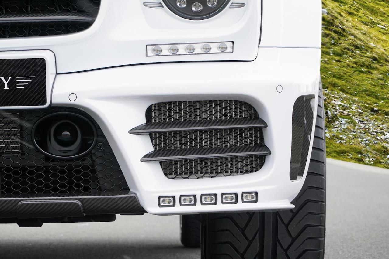 mansory mercedes benz g63 g65 g550 g500 w463 gronos facelift wide body carbon fiber led drl