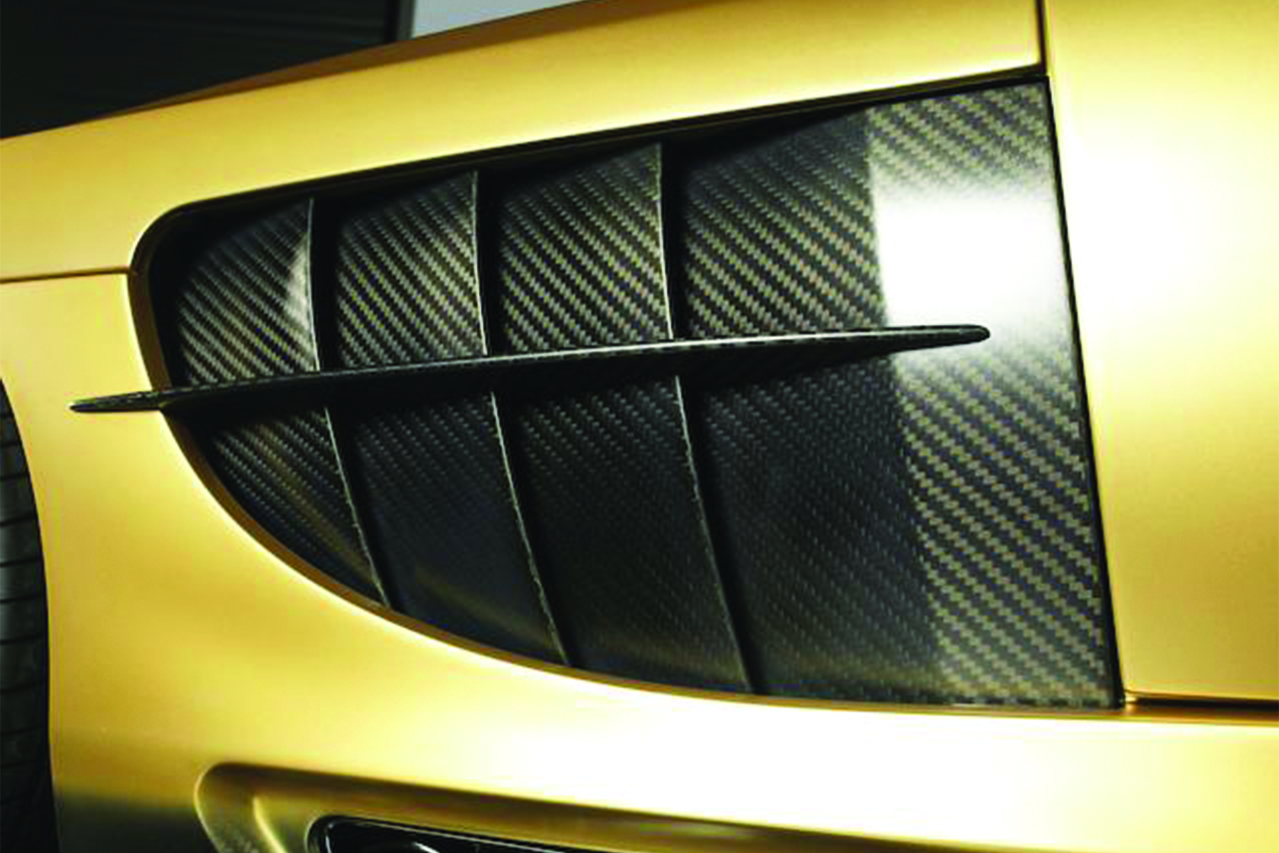 mansory mercedes benz slr renovatio carbon fiber wide body fender vent