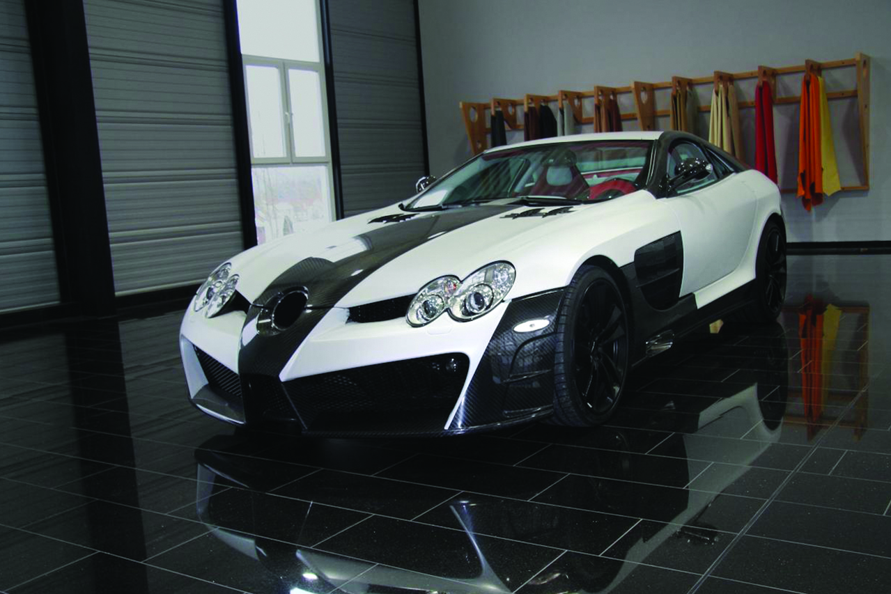 mansory mercedes benz slr renovatio carbon fiber wide body front bumper fender hood