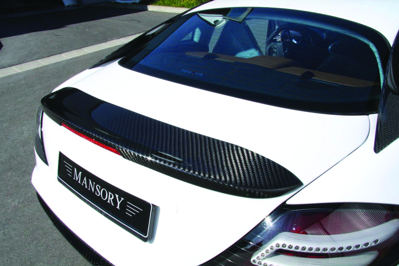 mansory mercedes benz slr renovatio carbon fiber wide body trunk wing