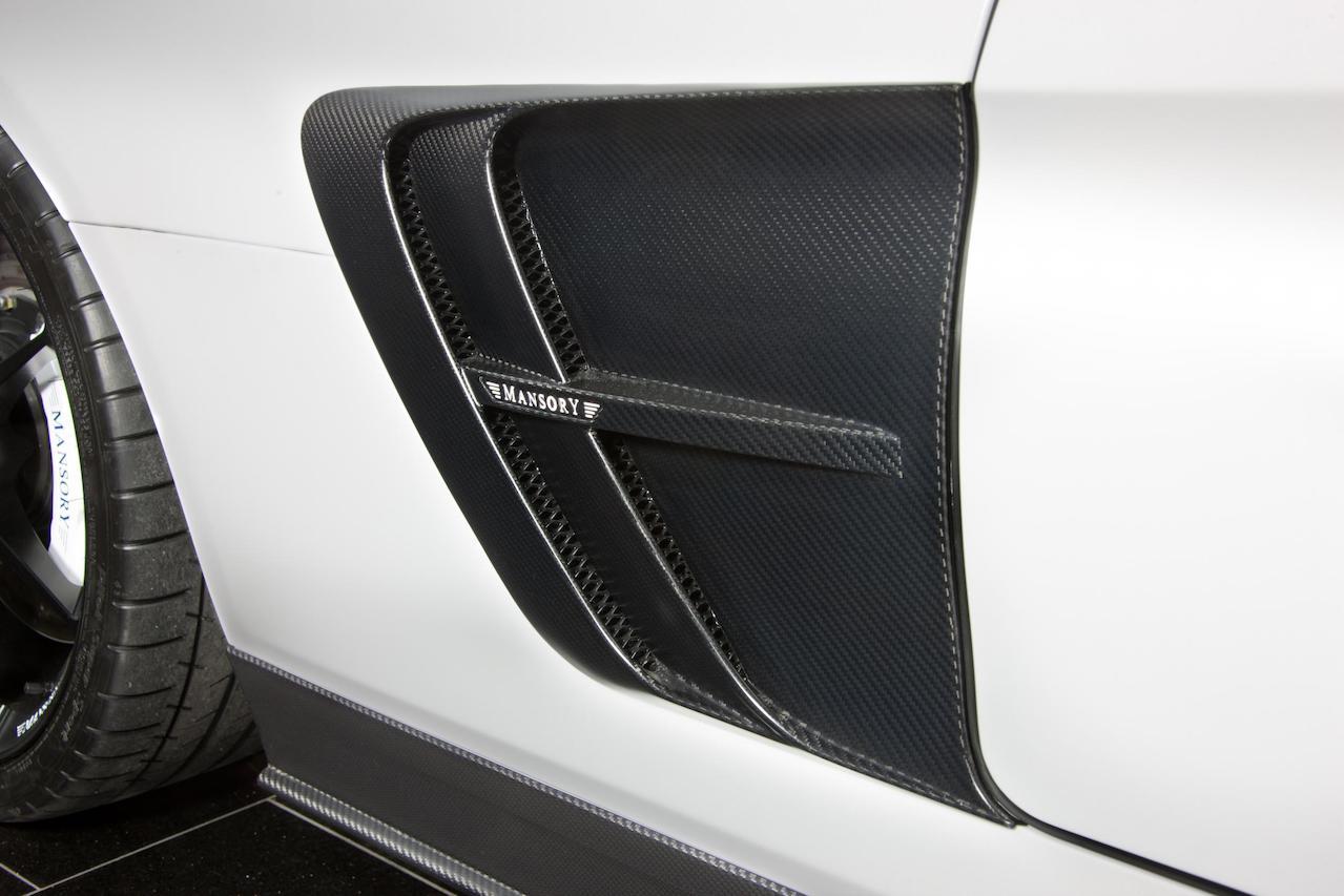 mansory mercedes benz sls amg soft kit carbon fiber fender vent