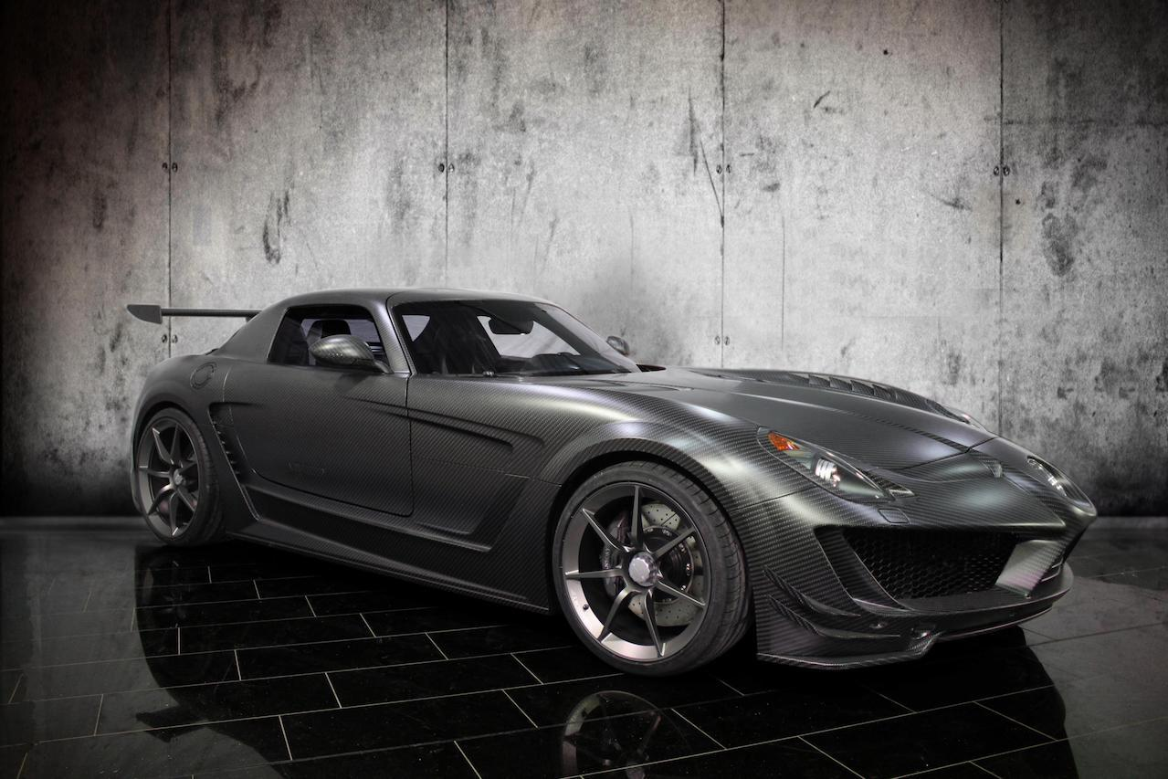 mansory mercedes benz sls cormeum carbon fiber wide body fully forged center lock wheel rim front angle