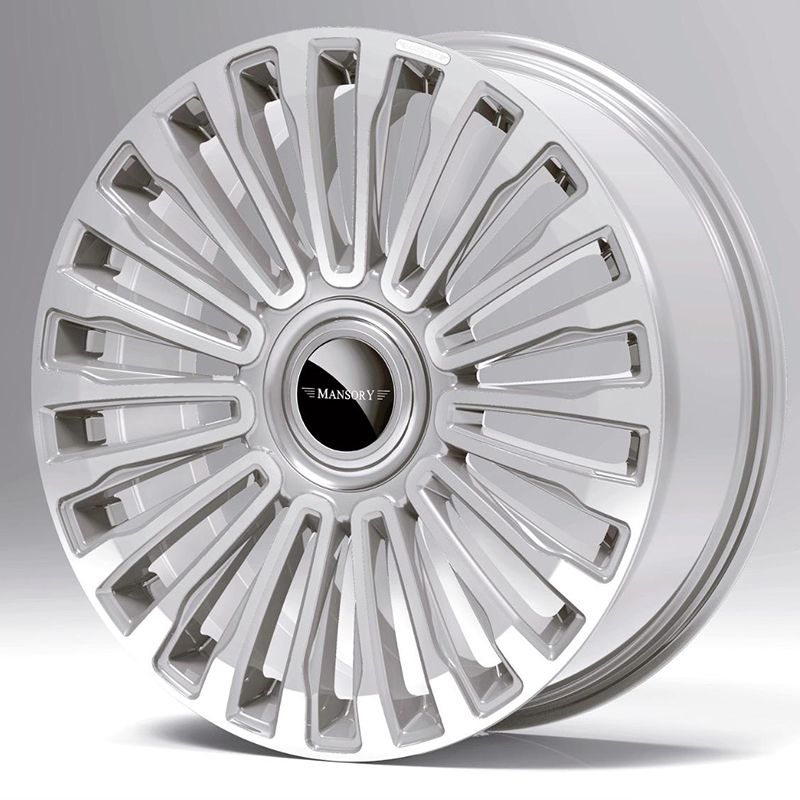mansory multispoke wheel diamond silver