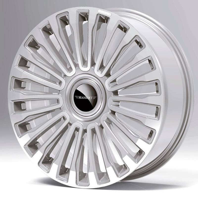 mansory multispoke wheel diamond silver
