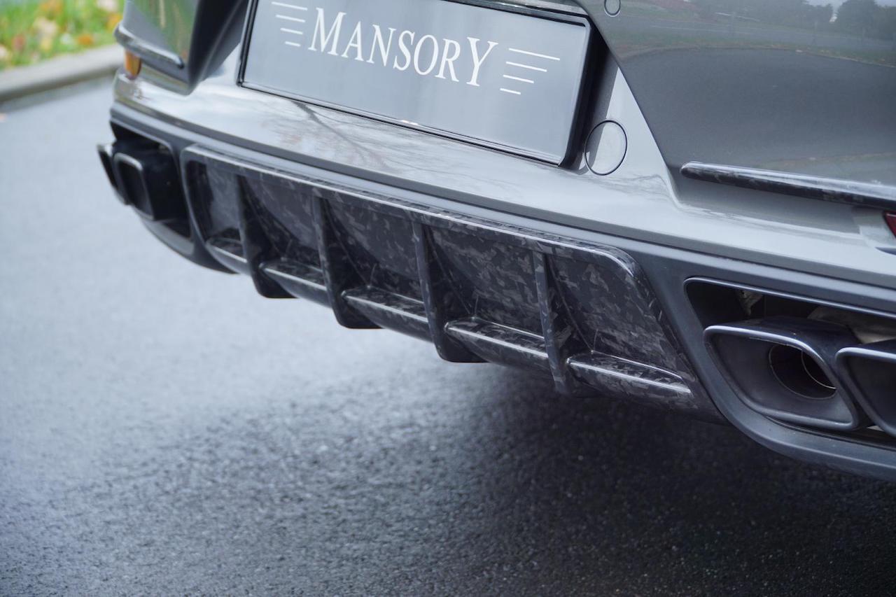 mansory porsche 911 911 turbo s coupe cabriolet carbon fiber rear diffuser