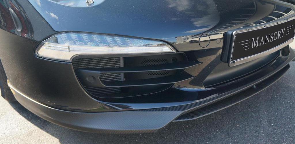mansory porsche 911 991 black carbon fiber front bumper lip