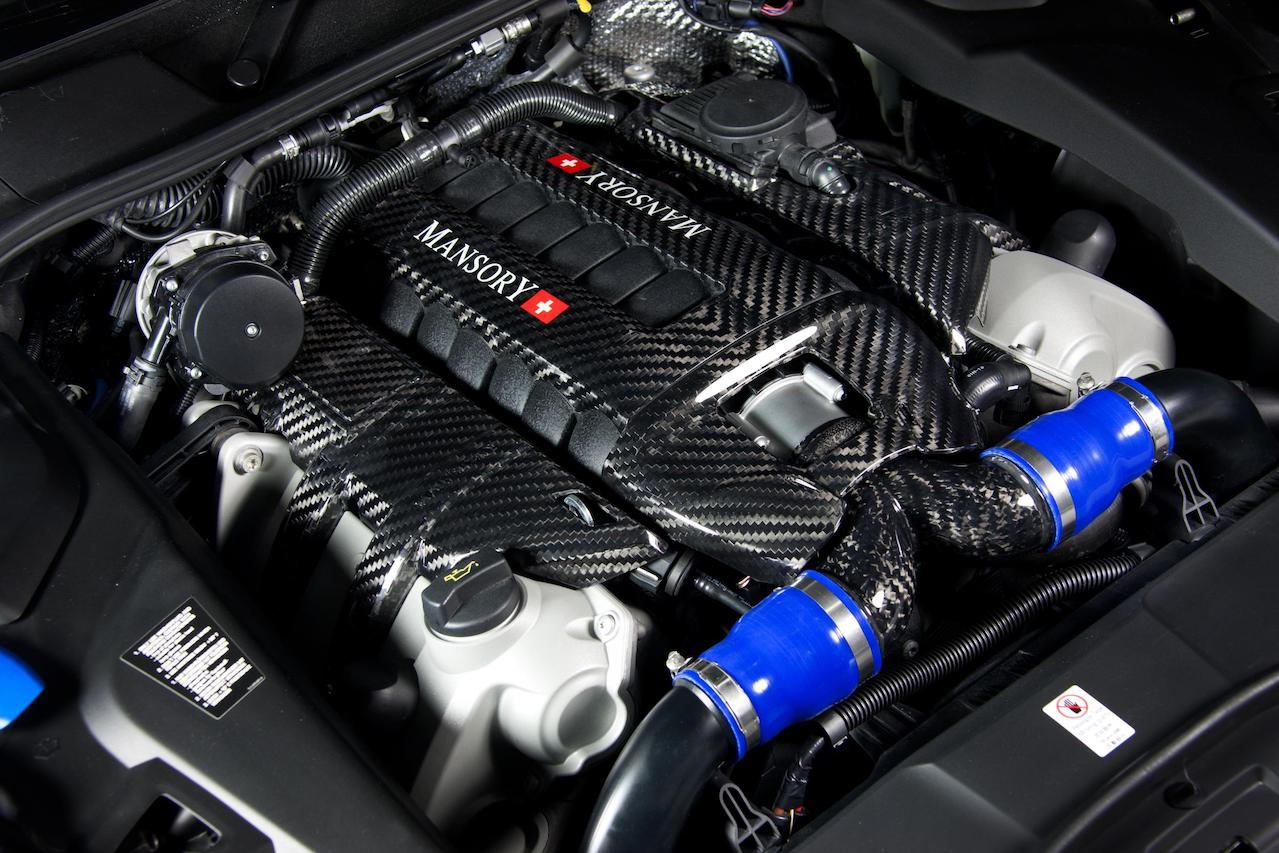 mansory porsche cayenne 958 carbon fiber engine cover 2011 2012 2013 2014
