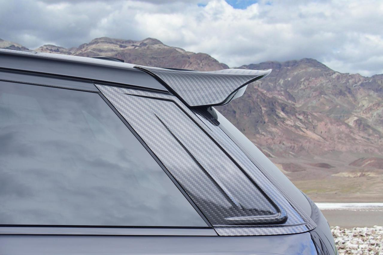 mansory range rover sport wide body kit II carbon fiber roof spoiler wing