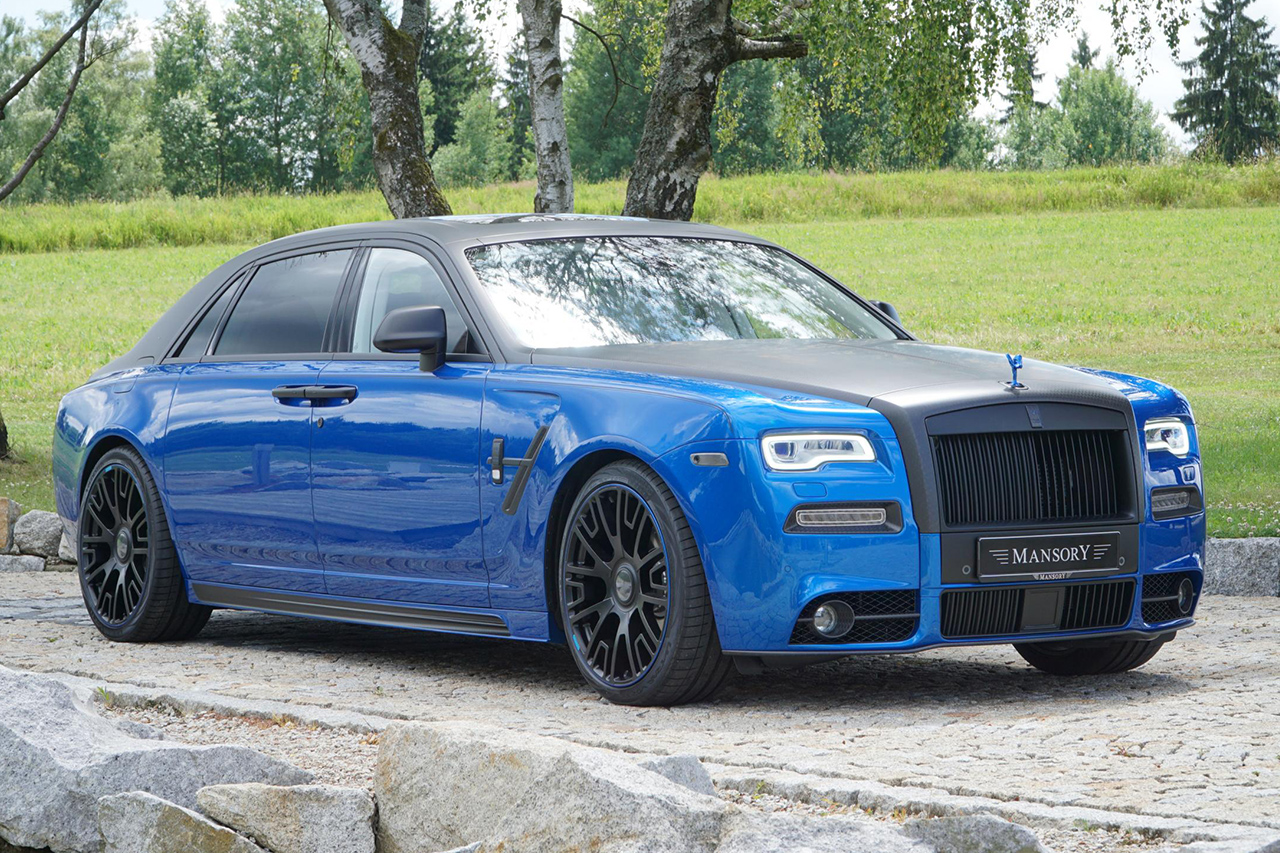 mansory rolls royce ghost series II body kit carbon fiber front bumper grill hood led drl fender side skirt v6 wheel rim