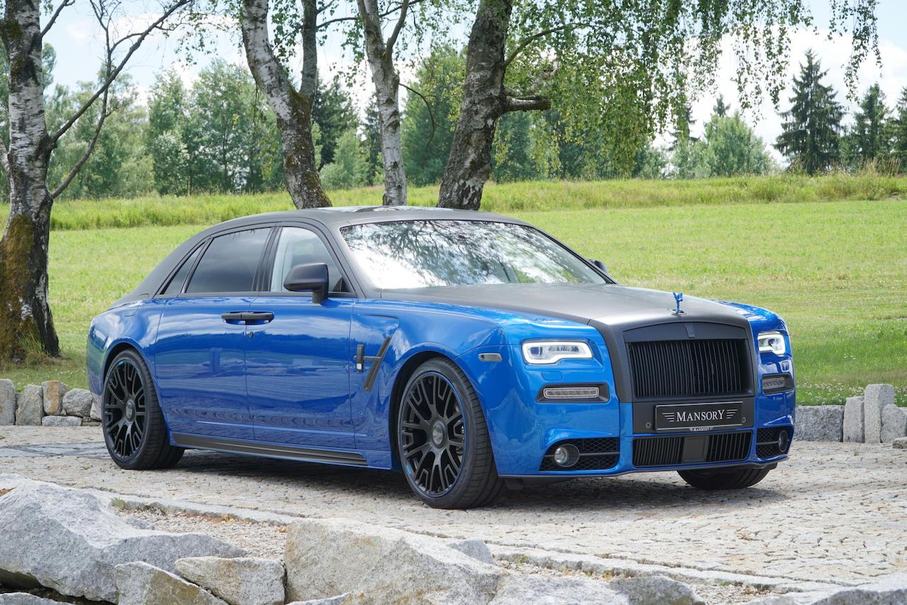 mansory rolls royce ghost series II body kit carbon fiber front bumper grill hood led drl fender side skirt v6 wheel