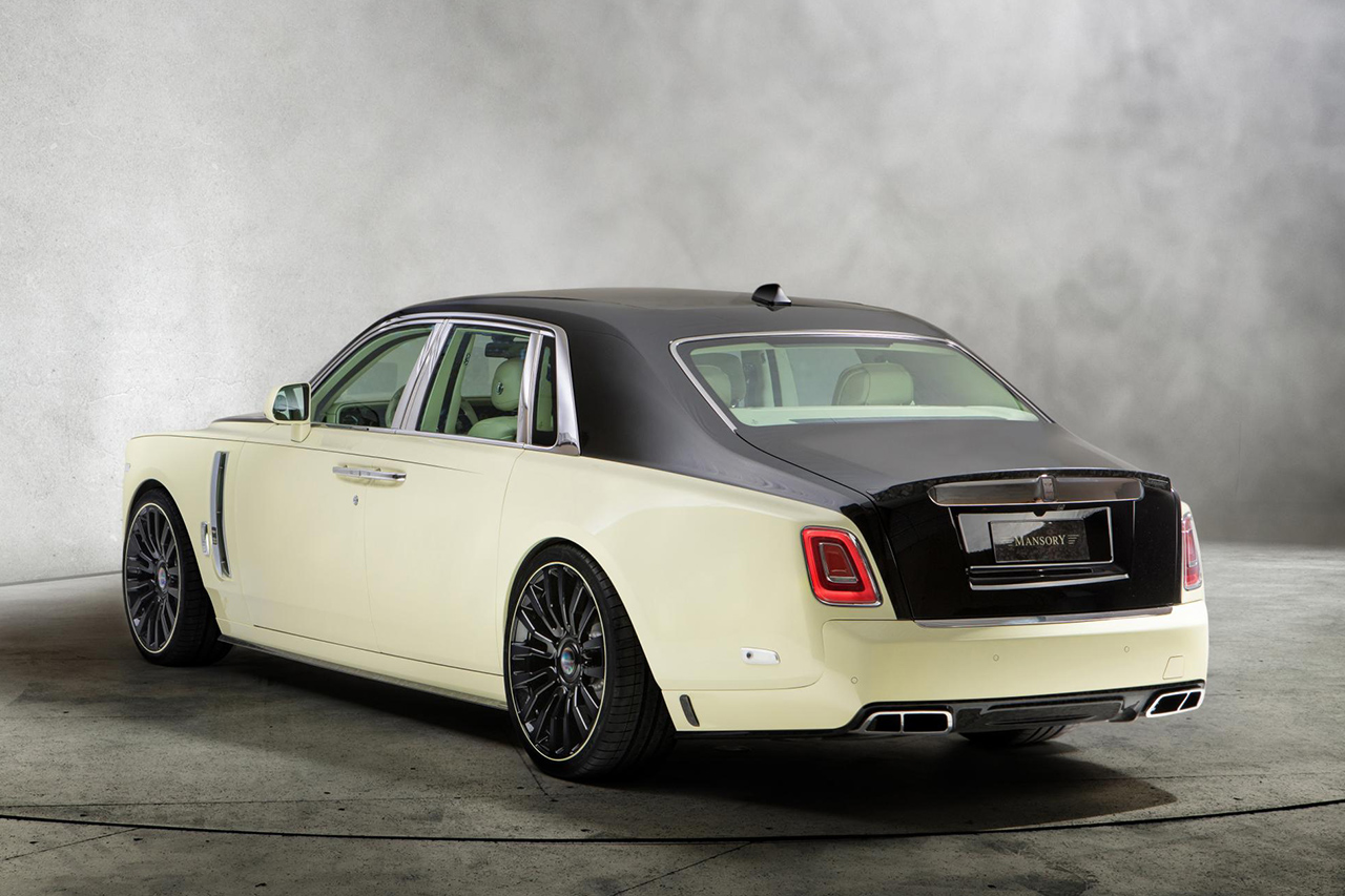 mansory rolls royce phantom VIII 8 bushukan rear bumper diffuser exhaust ip trunk wing side skirt m8 forged wheel rim