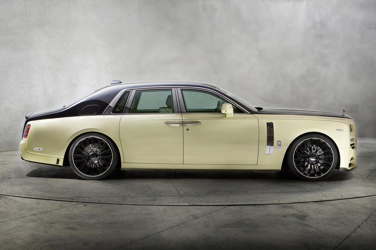 mansory rolls royce phantom viii 8 bushukan fender side skirt m8 forged wheel rim