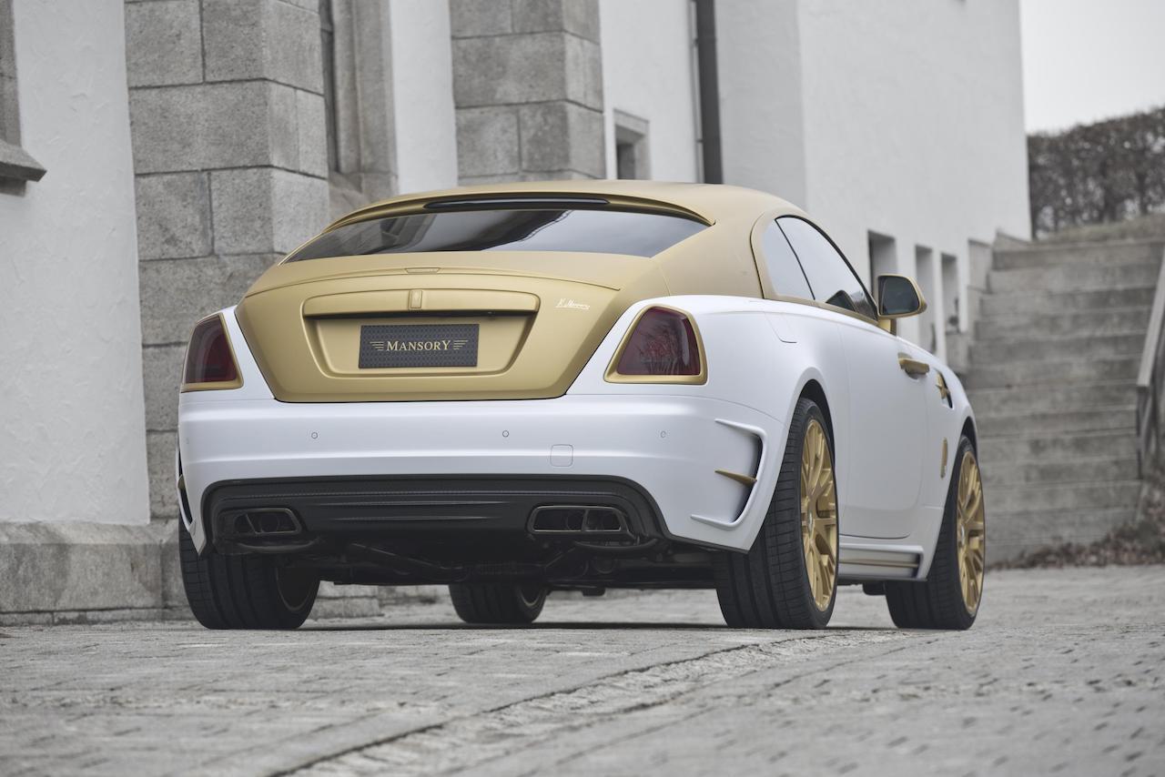 mansory rolls royce wraith II body kit rear bumper carbon diffuser exhaust system side skirt fender multispoke wheel rim