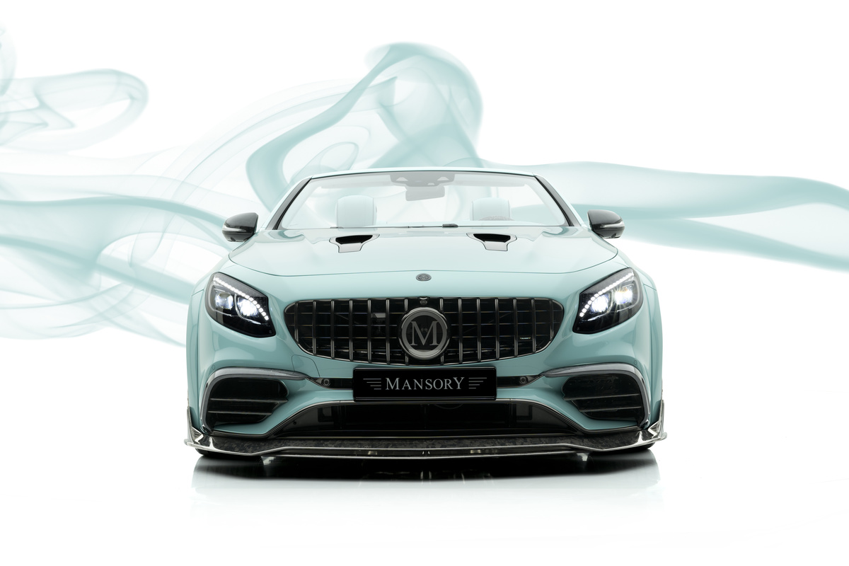 mansory mercedes benz s class coupe cabrio apertus edition front bumper carbon front spoiler