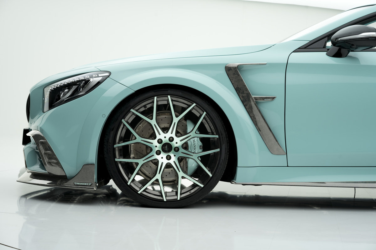 mansory mercedes benz s class coupe cabrio apertus edition front fender vent forged mesh wheel