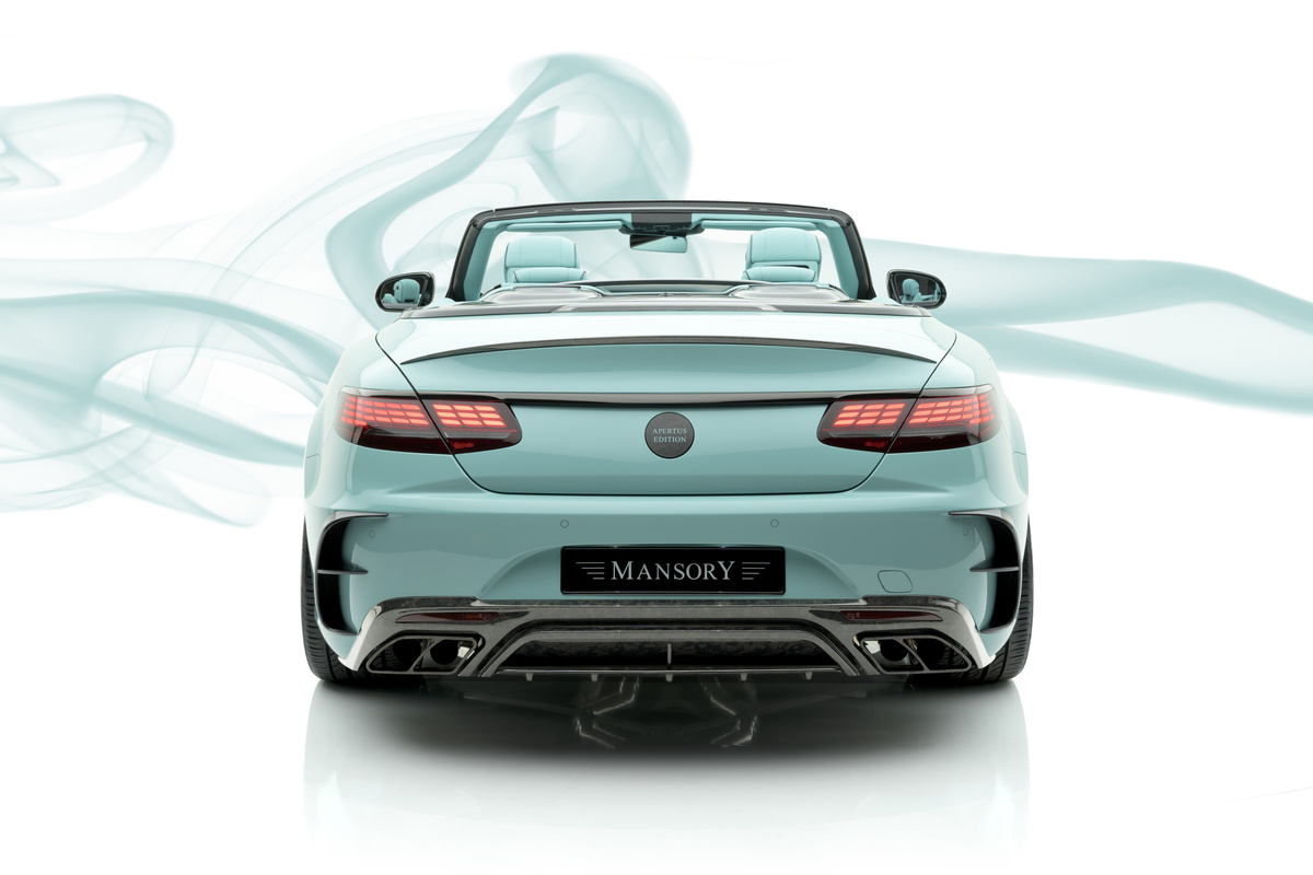 mansory mercedes benz s class coupe cabrio apertus edition rear bumper trunk spoiler rear diffuser exhaust system