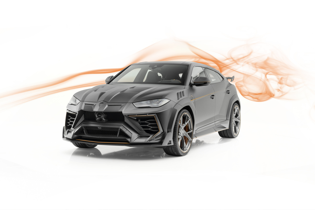mansory lamborghini urus venatus carbon fiber wide body kit front bumper fender hood over fender yn.5 forged wheel rim