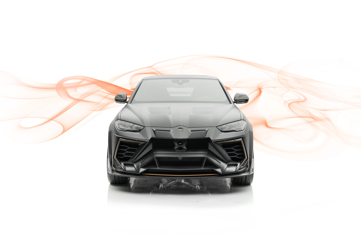 mansory lamborghini urus venatus carbon fiber wide body kit front bumper hood