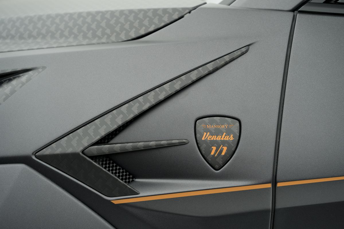 mansory lamborghini urus venatus carbon fiber wide body kit front fender logo