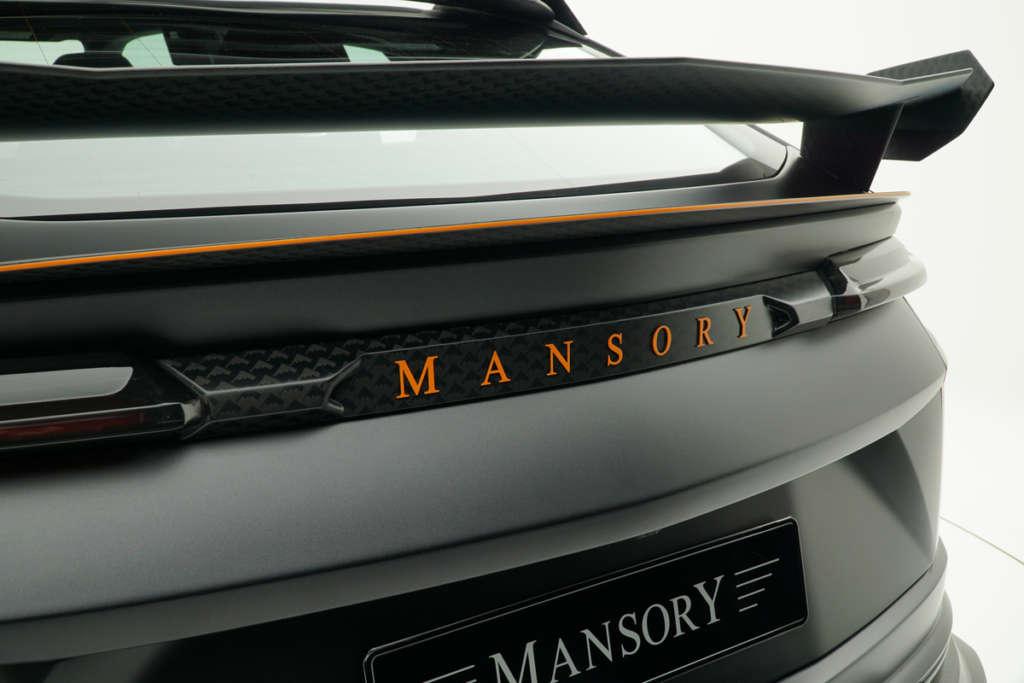 mansory lamborghini urus venatus carbon fiber wide body kit rear logo panel rear wing spoiler trunk wing
