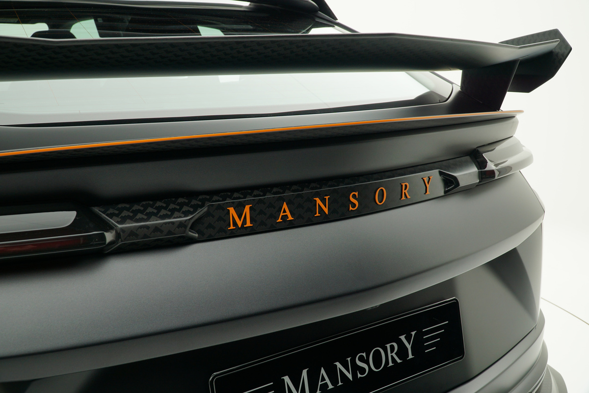 mansory lamborghini urus venatus carbon fiber wide body kit rear logo panel rear wing spoiler trunk wing