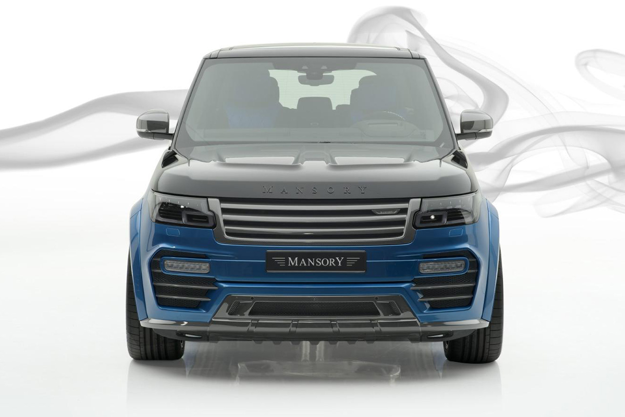 mansory new range rover full size carbon fiber wide body kit front bumper side skirts hood bonnet 2019