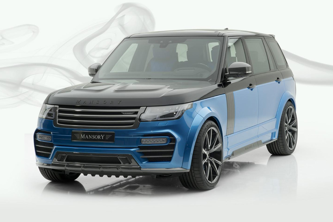 mansory new range rover full size carbon fiber wide body kit front bumper side skirts over fender set hood bonnet y.5 wheel rim 2019