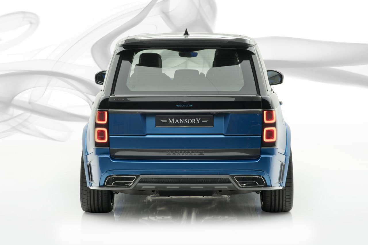 mansory new range rover full size carbon fiber wide body kit rear bumper sport exhaust trunk wing spoiler roof wing diffuser 2019