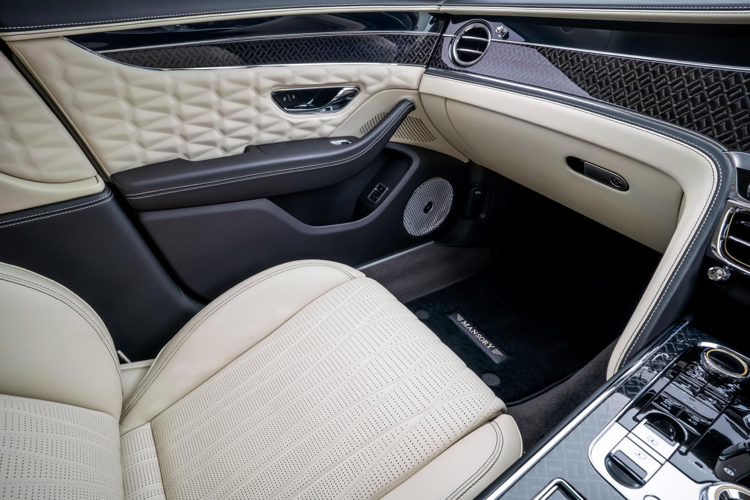 mansory bentley flying spur body kit interior seat door panel carbon floor mat