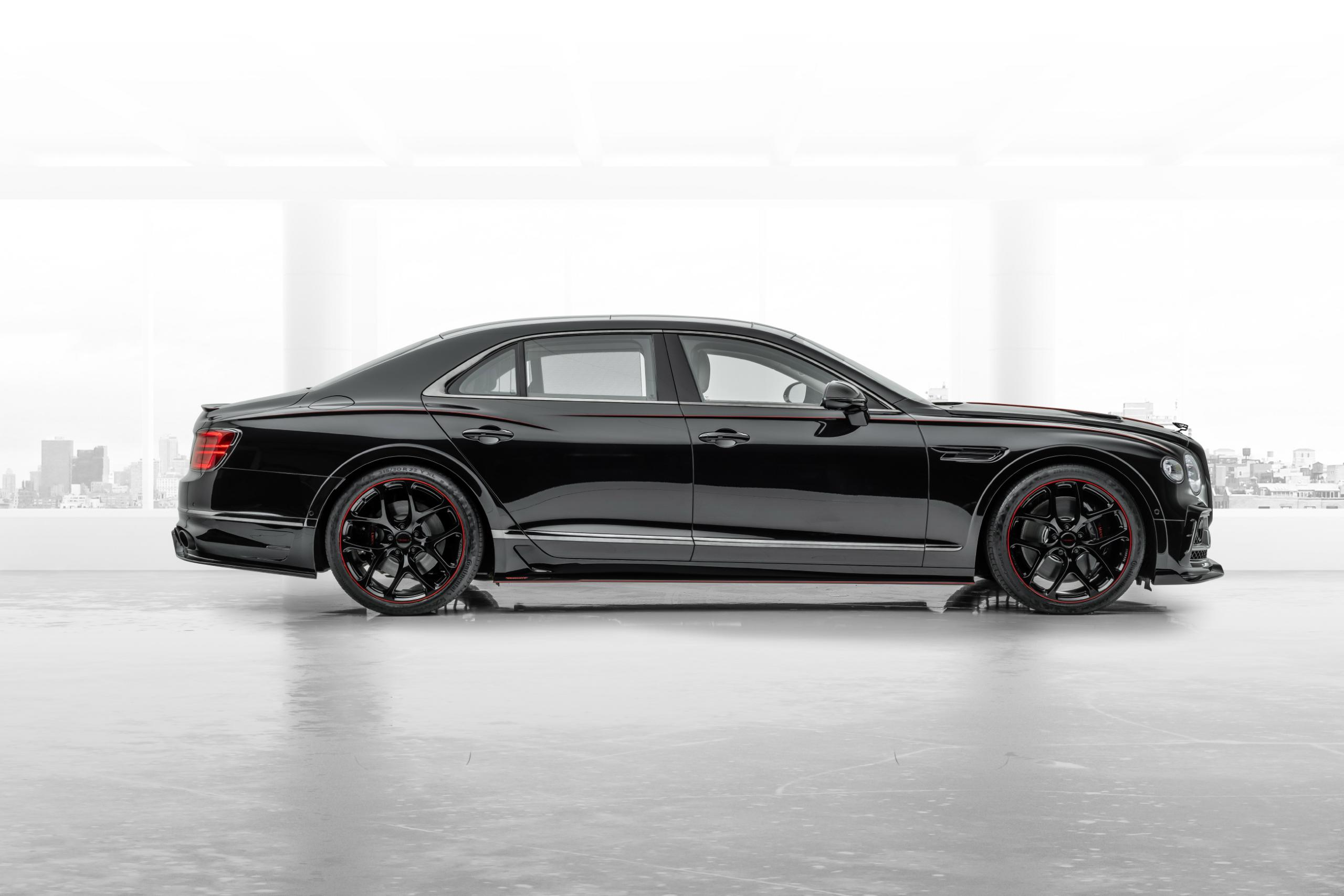 mansory bentley flying spur body kit side view side skirts by5 wheel rim