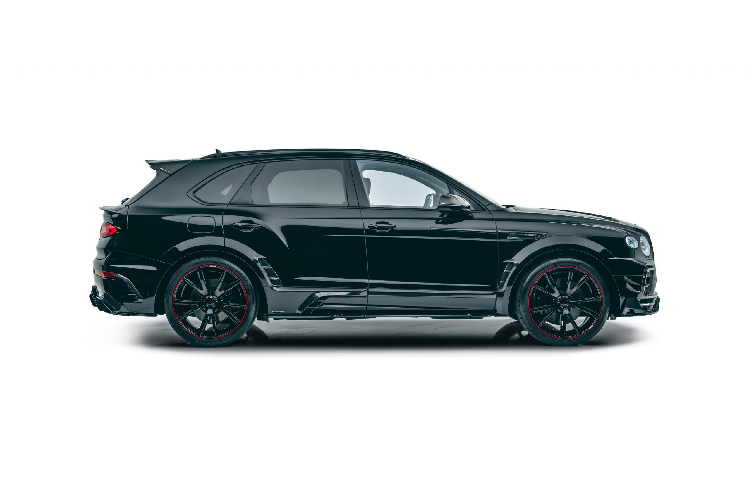 mansory new bentayga wide body kit carbon fiber y.5 23 wheel 2021 side