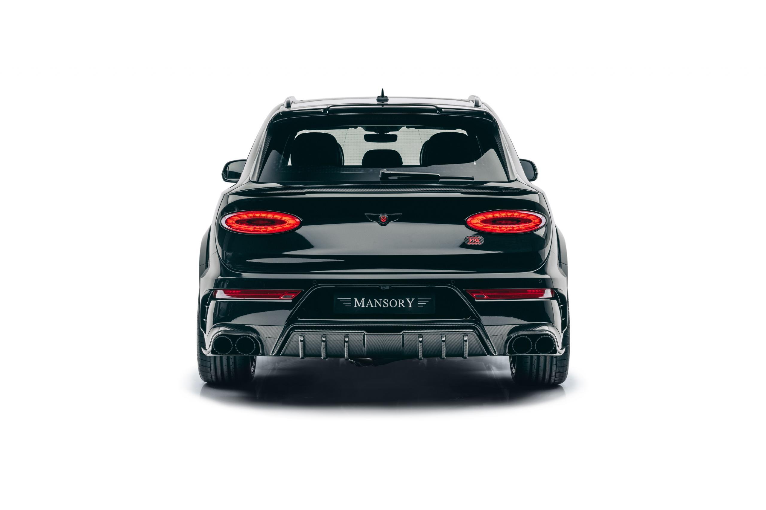 mansory new bentayga wide body kit carbon fiber y.5 23 wheel 2021 rear