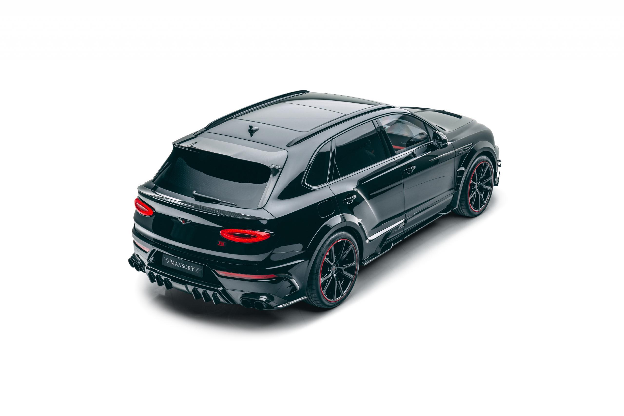 mansory new bentayga wide body kit carbon fiber rear bumper roof spoiler y.5 23 wheel 2021