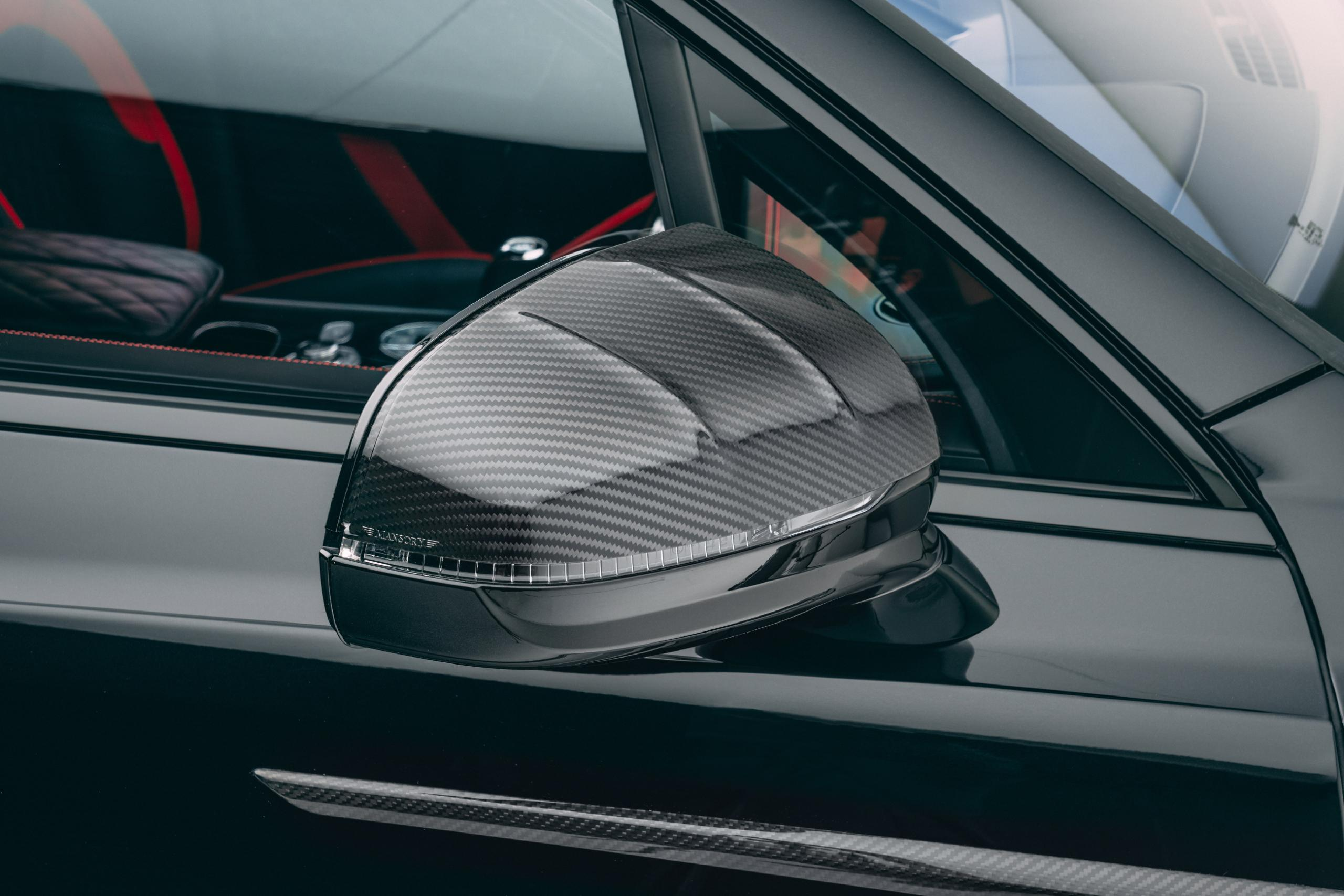 mansory new bentayga wide body kit carbon fiber mirror cover front 2021