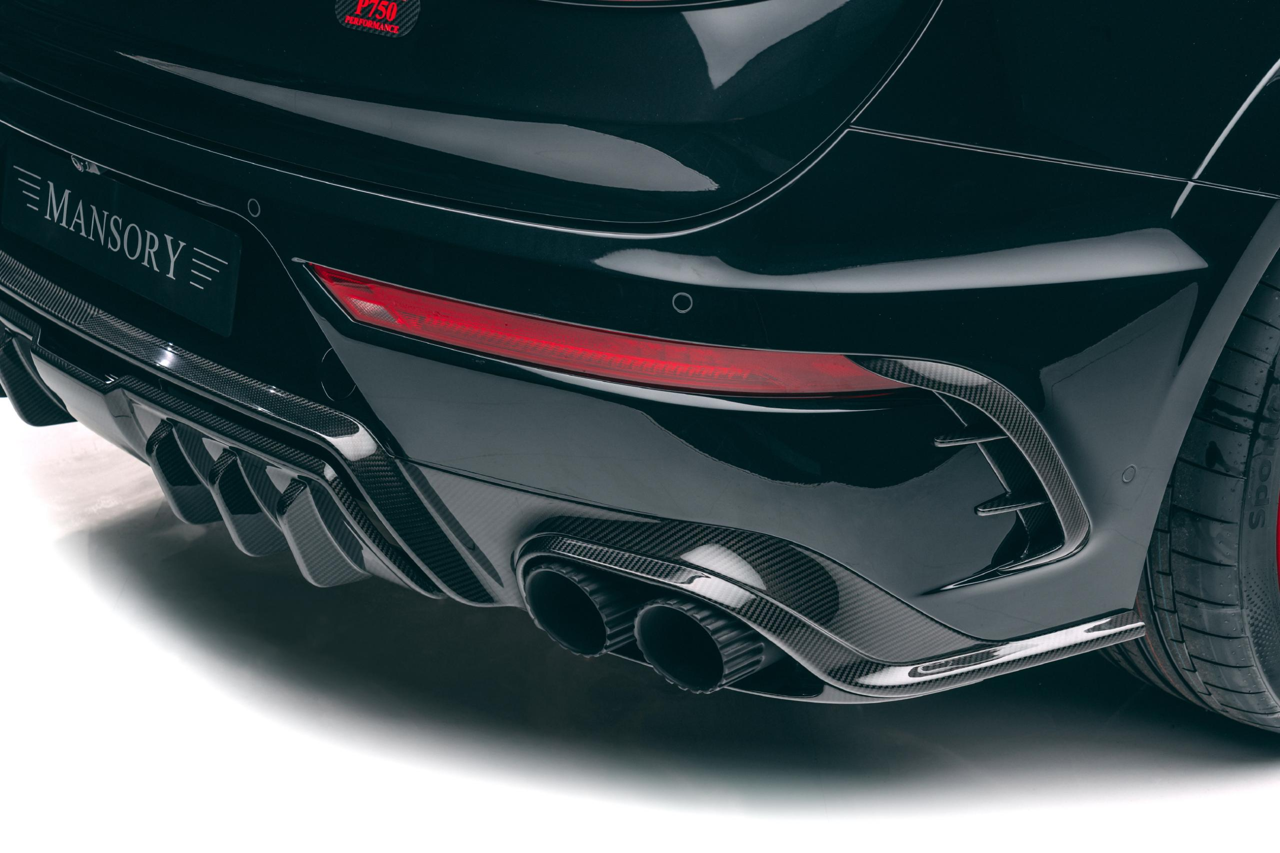 mansory new bentayga wide body kit carbon fiber rear diffuser exhaust tips rear bumper outtake 2021