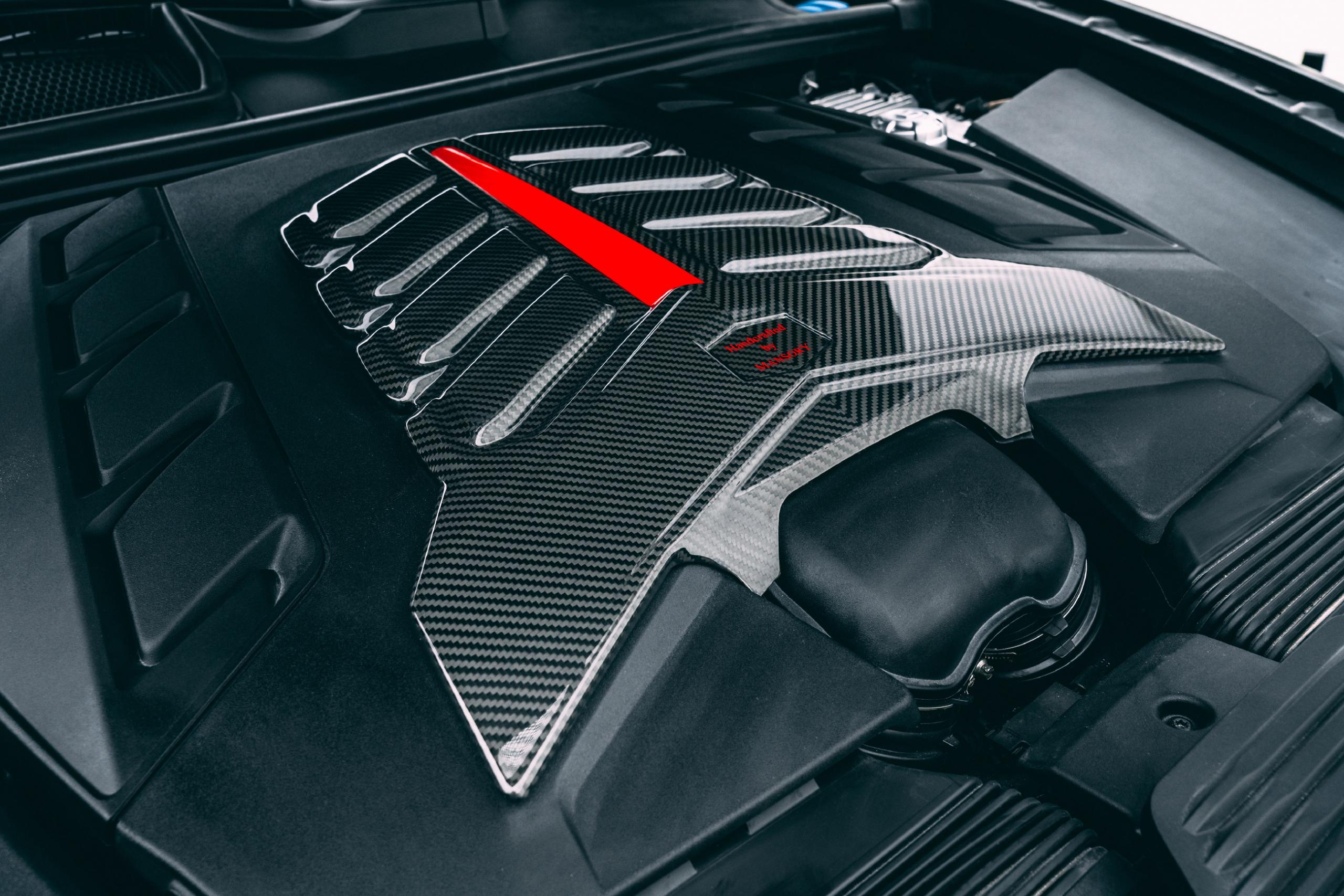 mansory new bentayga wide body kit carbon fiber engine cover performance 2021