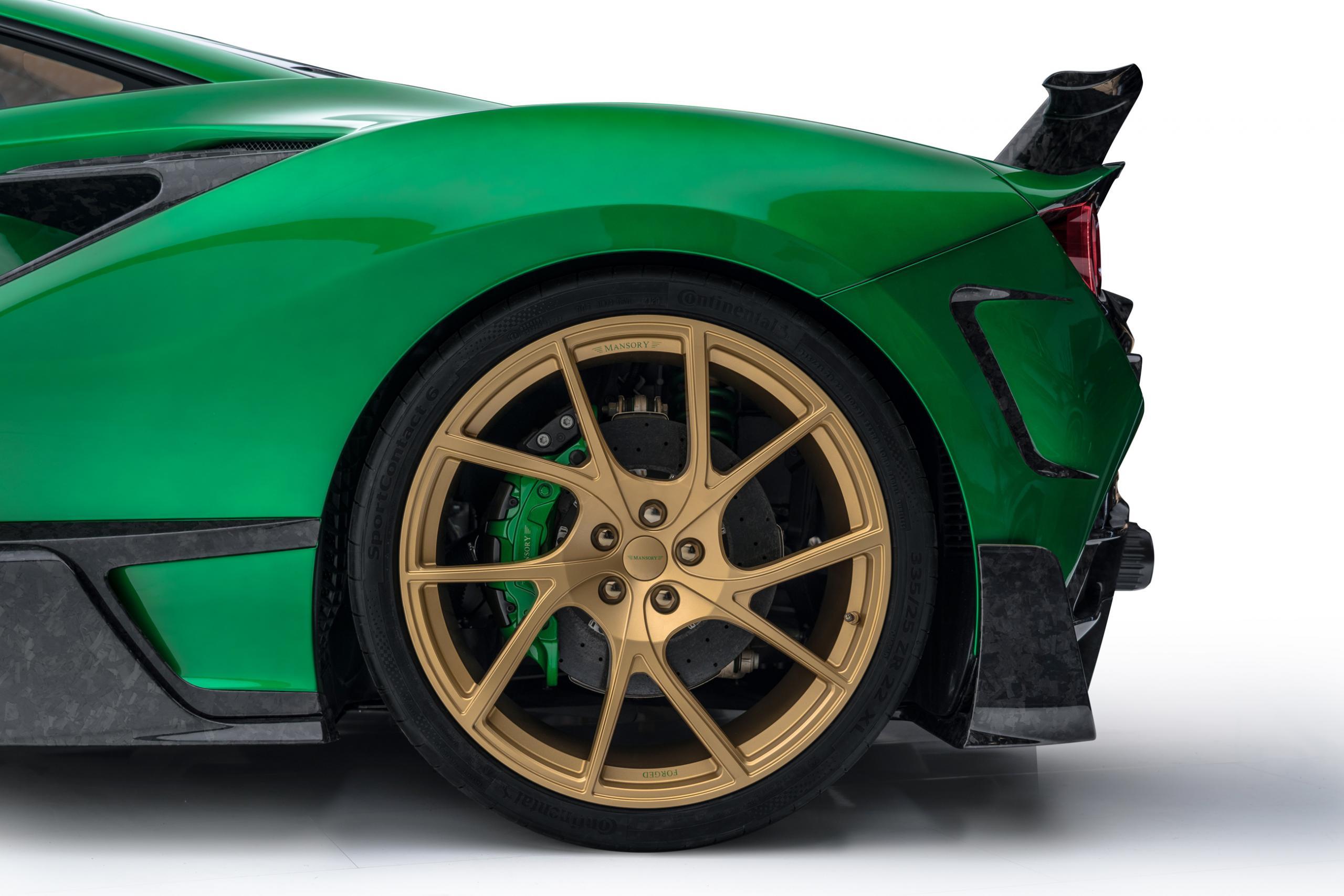 mansory f8xx ferrari f8 body kit carbon fiber y.5 forged wheel 2020 2021